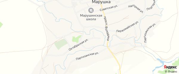 Карта села Марушки в Алтайском крае с улицами и номерами домов
