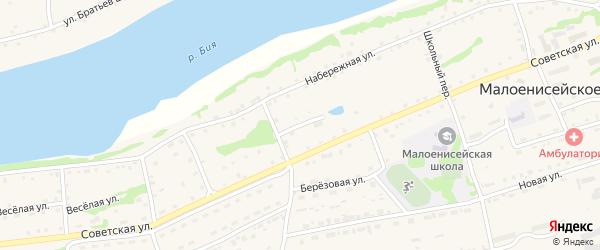 Садовая улица на карте Малоенисейского села с номерами домов