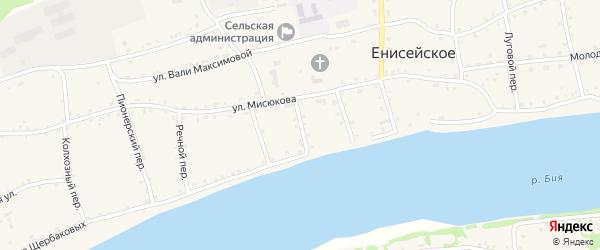 Веселый переулок на карте Енисейского села с номерами домов