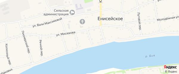 Почтовый переулок на карте Енисейского села с номерами домов