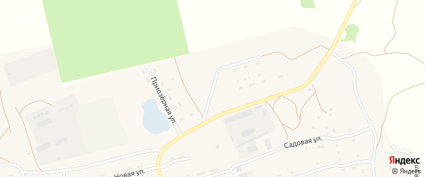 Приозёрная улица на карте села Марушки с номерами домов