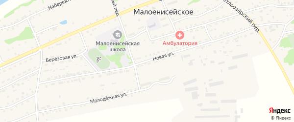 Новая улица на карте Малоенисейского села с номерами домов