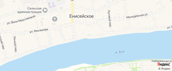 Улица Братьев Щербаковых на карте Енисейского села с номерами домов