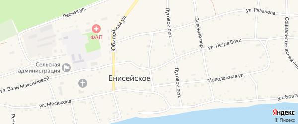 Подгорный переулок на карте Енисейского села с номерами домов