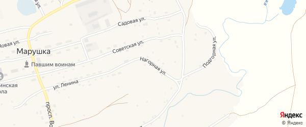 Нагорная улица на карте села Марушки с номерами домов