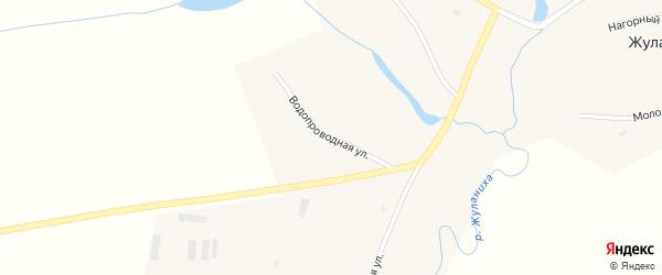 Водопроводная улица на карте села Жуланихи с номерами домов