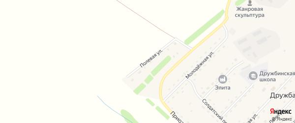Полевая улица на карте села Дружбы с номерами домов