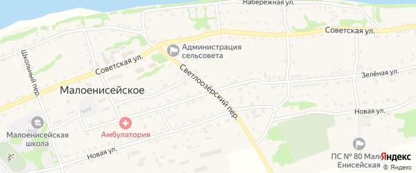 Светлоозерский переулок на карте Малоенисейского села с номерами домов
