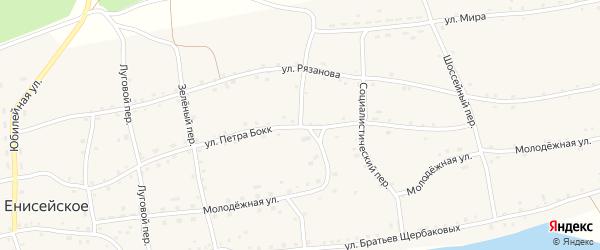 Восточный переулок на карте Енисейского села с номерами домов