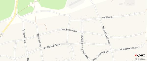 Улица Рязанова на карте Енисейского села с номерами домов
