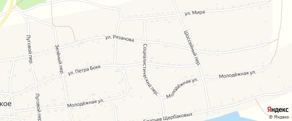 Социалистический переулок на карте Енисейского села с номерами домов