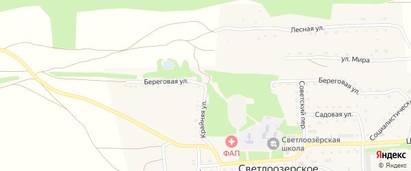 Береговая улица на карте садового некоммерческого товарищества Зверовода с номерами домов