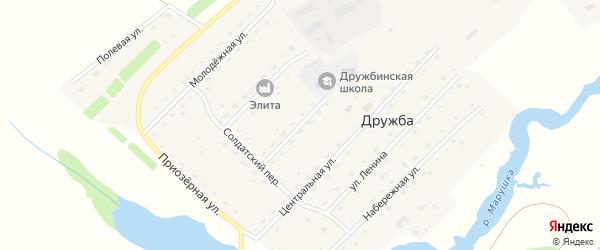 Улица 30 лет Победы на карте села Дружбы с номерами домов
