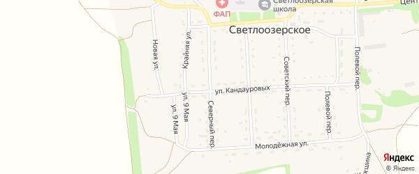 Северный переулок на карте Светлоозерского села с номерами домов