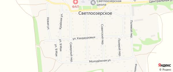 Комсомольский переулок на карте Светлоозерского села с номерами домов