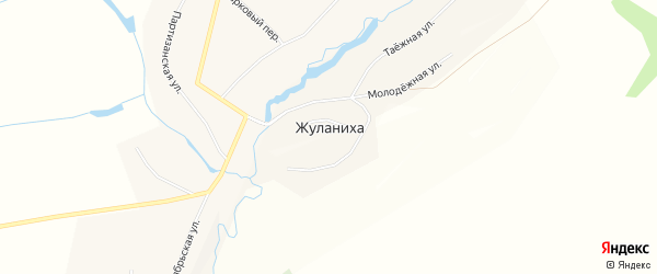 Карта села Жуланихи в Алтайском крае с улицами и номерами домов