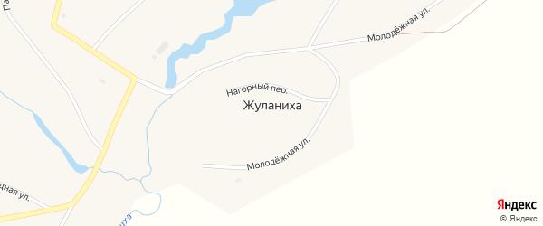 Нагорный переулок на карте села Жуланихи с номерами домов
