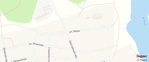 Улица Мира на карте Енисейского села с номерами домов