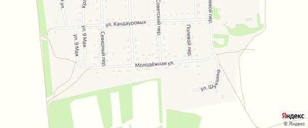 Молодежная улица на карте Светлоозерского села с номерами домов