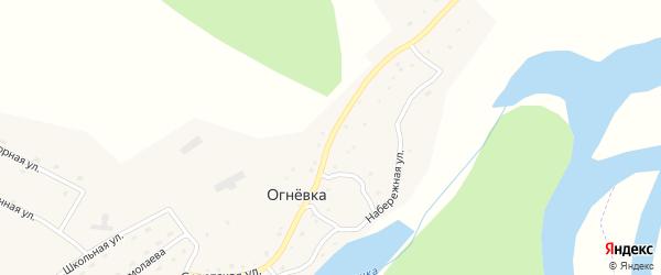 Советская улица на карте села Огневки с номерами домов