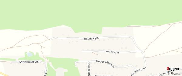 Лесная улица на карте Светлоозерского села с номерами домов