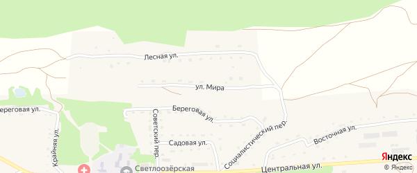Улица Мира на карте Светлоозерского села с номерами домов