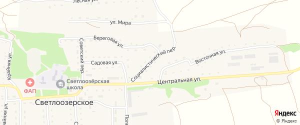 Социалистический переулок на карте Светлоозерского села с номерами домов