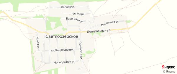 Карта Светлоозерского села в Алтайском крае с улицами и номерами домов