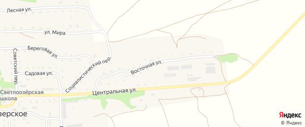 Восточная улица на карте Светлоозерского села с номерами домов