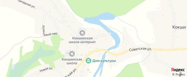 Школьный переулок на карте села Кокши с номерами домов