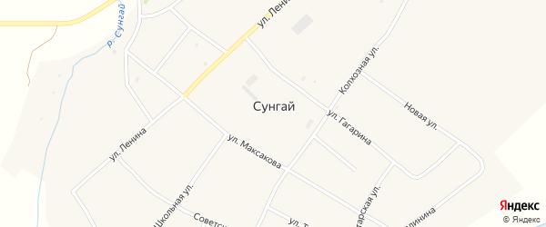 Улица Гагарина на карте села Сунгая с номерами домов