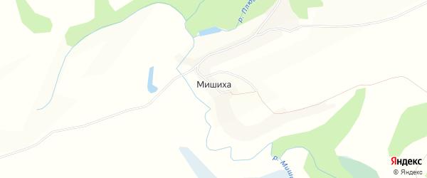 Карта села Мишихи в Алтайском крае с улицами и номерами домов