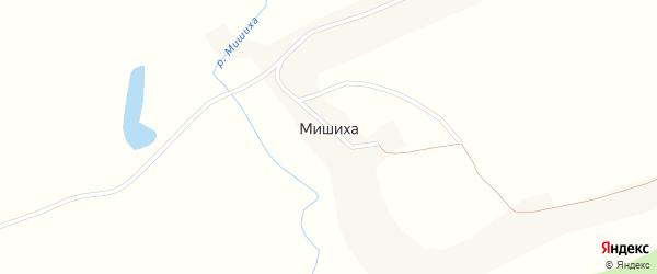Центральная улица на карте села Мишихи с номерами домов