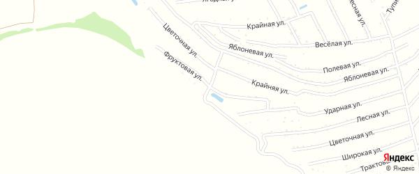 Цветочная улица на карте территории сдт Молочника с номерами домов