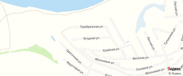 Ягодная улица на карте территории сдт Молочника с номерами домов