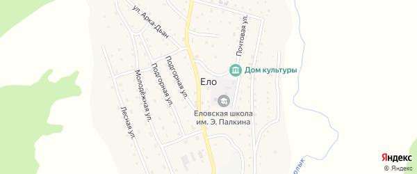 Трактовая улица на карте села Ело с номерами домов