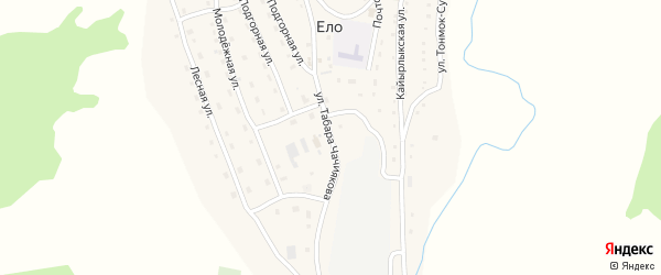 Улица Чачиякова Табара на карте села Ело с номерами домов