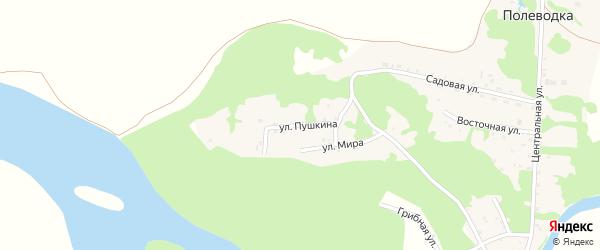 Улица Пушкина на карте поселка Полеводки с номерами домов
