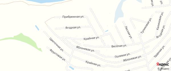 Фруктовая улица на карте территории сдт Молочника с номерами домов