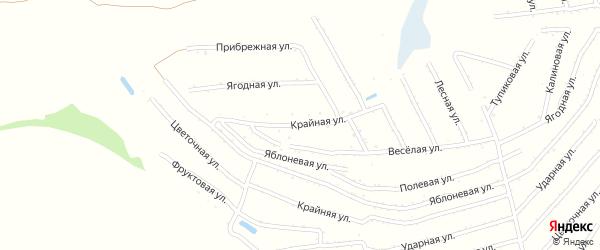 Яблочная улица на карте территории сдт Молочника с номерами домов