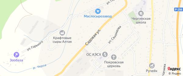 Садовая улица на карте села Черга с номерами домов