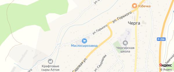Улица Горького на карте села Черга с номерами домов