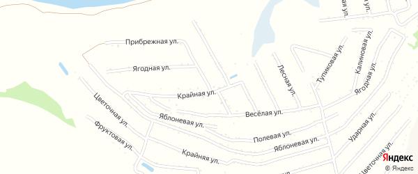 Степная улица на карте территории сдт Молочника с номерами домов