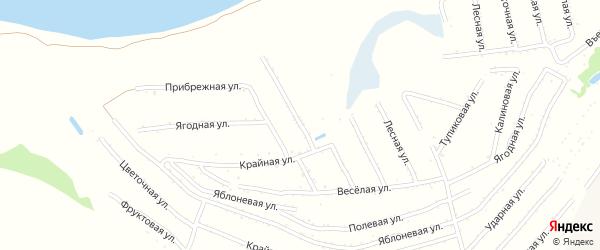 Центральная улица на карте территории сдт Молочника с номерами домов
