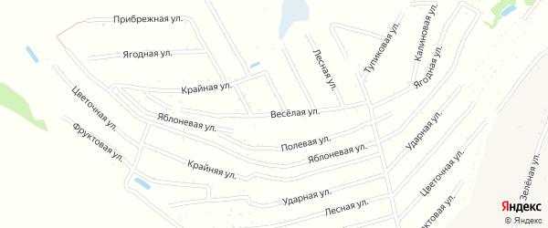 Веселая улица на карте территории сдт Молочника с номерами домов