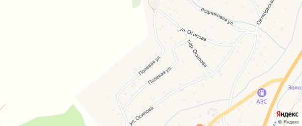 Полевая улица на карте села Черга с номерами домов