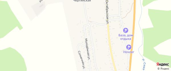 Молодежная улица на карте села Черга с номерами домов