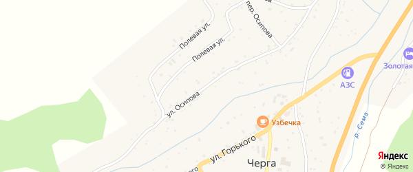 Улица Осипова на карте села Черга с номерами домов