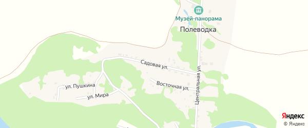 Садовая улица на карте поселка Полеводки с номерами домов