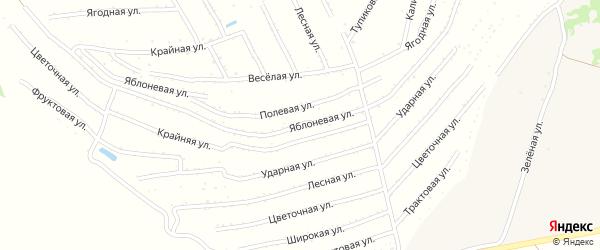 Яблоневая улица на карте садового некоммерческого товарищества Машиностроителя с номерами домов